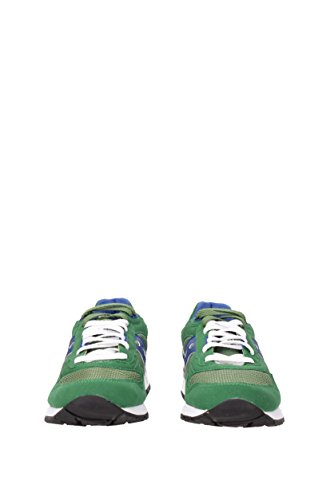Sneaker Saucony Shadow 5000 in suede e nylon verde smeraldo e blu Vert