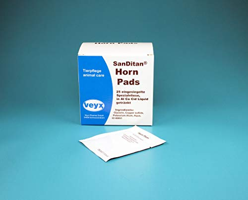 Veyx-Pharma SanDitan Horn Pads, Option:Packung enthält 25 Pads
