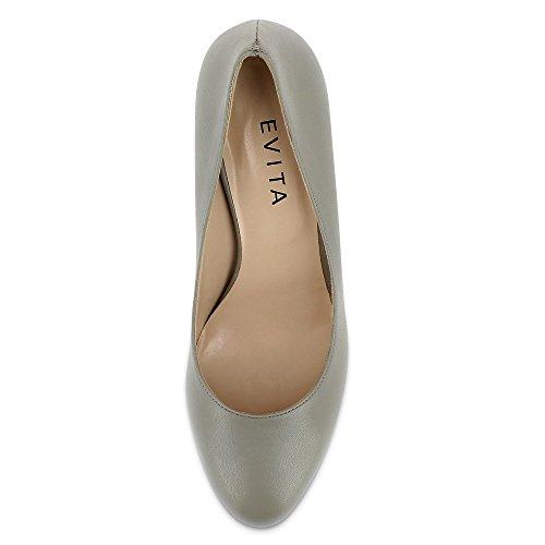 Evita Shoes - Bianca, Scarpe col tacco Donna Grigio (Grigio)