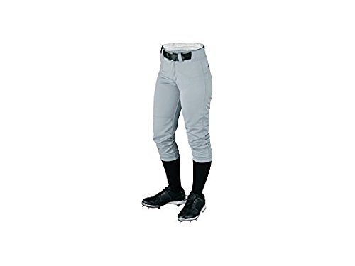 Wilson Women's (Low-Rise) Heavyweight Poly Warp Knit Softball Pant, Grey, XX-Small (Low-rise-uniform)