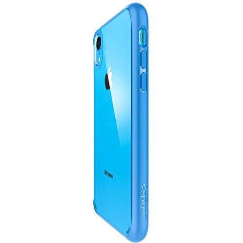Spigen Coque iPhone XR [Ultra Hybrid] Bleu, Protection Coin AIR Cushion, Bumper Renforcé en Silicone, Dos Rigide en PC Compatible avec iPhone XR