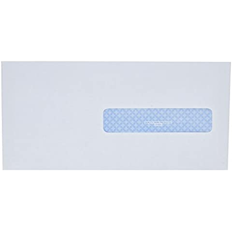 Health Form Gummed Security Envelope, #10, White, 500/Box