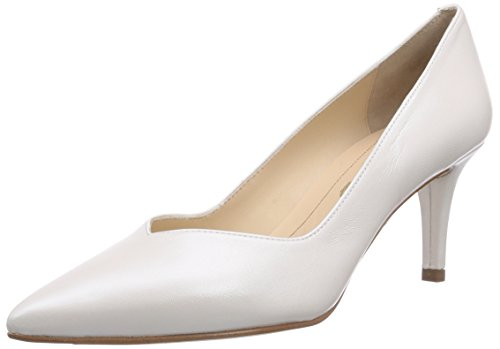 Unisa Kun_15_n, Chaussures à talons - Avant du pieds couvert femme Blanc - Weiß (BONE)