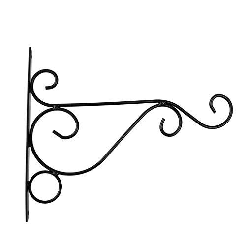 B Blesiya Eisen Wand Hängen Pflanzen Blumentopf Halterung Laterne Wandhänger für Garten, Balkon -