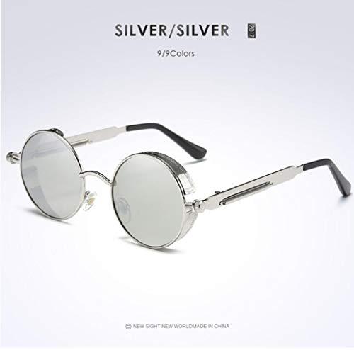 STAR Männer Polarisierte Sonnenbrillen, Fahrrad Gläser, UV400 UV-Schutz, Multi-Color Optional,Silverframesilver