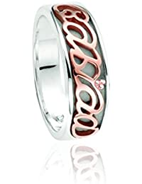 Clogau Gold Sterling Silver and Rose Gold Cariad Ring