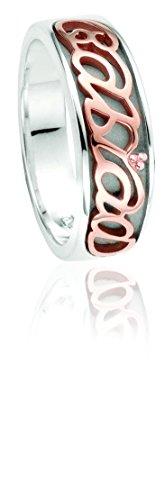 Clogau Gold Script-Ring Cariad aus Silber und 9 Karat Rotgold - Größe S Preisvergleich
