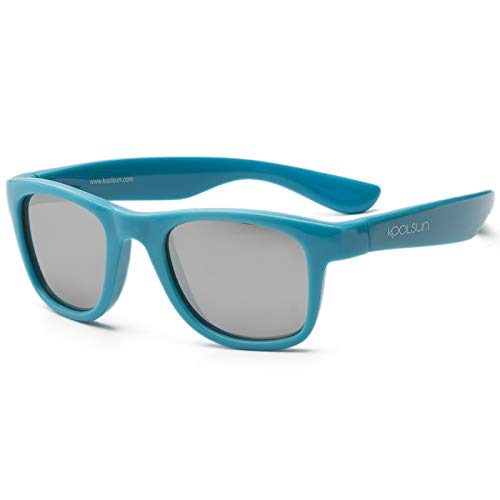 Koolsun Sonnenbrille Kinder Wave Fashion Cendre ,Blue Verspiegelt, 3-6 Jahre
