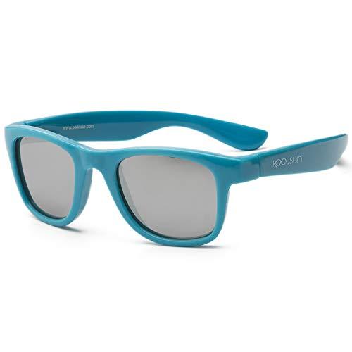 Koolsun Baby Sonnenbrille Kinder Wave Fashion, Cendre Blue Verspiegelt ,1-3 Jahre