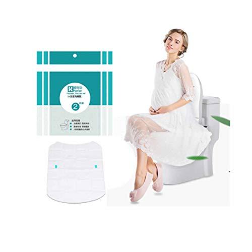 Xionghaizi sedile del water monouso, coprisedile per wc, adesivo per toilette portatile da viaggio, carta igienica impermeabile 16 pezzi facile da trasportare (unitcount : 16)
