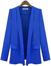 RoadRomao Mujeres 2 Pieza Trajes del Ajustado Conjunto de Pantalones Chaqueta de Oficina Señora Blazer
