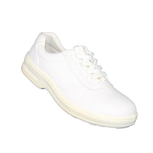 casteljaloux Group Laboratoire Chaussures S2aide-soignant Médecin Chaussons Plat Blanc B de Marchandises Blanc - Blanc