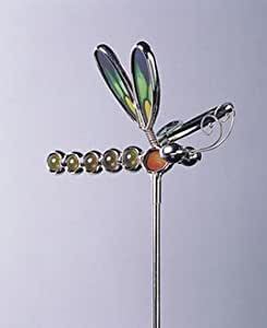 Plant Support–Deko Blumentopf aus Glas und Chrom–Libelle Form