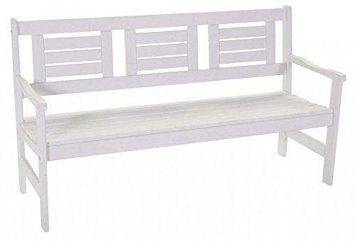 SENS Line Gartenbank Boulogne 3 Sitzer Weiß