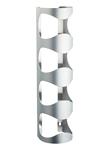 Bar Craft Wall Mounted 4-Bottle Wine Rack, Stainless Steel, 45 x 11 x 10 cm (17.5 x 4.5 x 4 Inches)