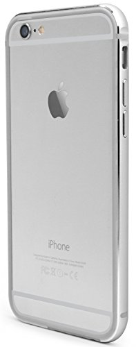 X-Doria Bump Gear Plus Aluminium Hülle Case Cover mit Gummi-Einlage für iPhone 6/6s - Silber