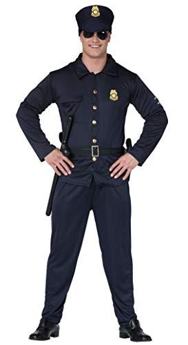 Fiestas Guirca Polizist Kostüm amerikanischer Polizist Mann