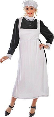 Florence Nightingale Erwachsene Damen Verkleidung Kostümparty Viktorianische Maid (Florence Kostüm Dress Fancy Nightingale)