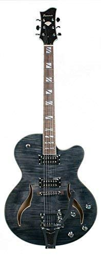 Diamonds Jazz/Rockabilly Guitarra Transparente Black & Case