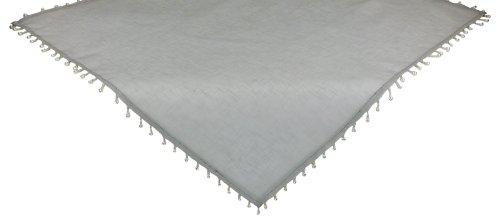 Xia Home Fashions Sheer Perlen Mitteldecke, silber, Silver (Perlen Doily)