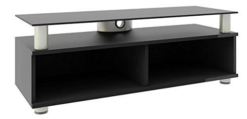 VCM TV Lowboard Schrank Tisch Rack Fernsehschrank Fernsehtisch Bank Möbel Lack Holz Schwarz