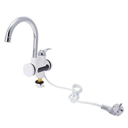 Lunji Professional Elektrischer Wasserhahn Durchlauferhitzer Heizung Wasserhahn Instant Heizung Wasserhahn mit LED Temperaturanzeige Digitalanzeige