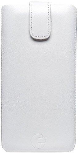 Original Favory® Etui Tasche für iPhone 7 / 6 / 6s (4.7 Zoll) Leder Etui Handytasche Ledertasche Schutzhülle Case Hülle *Lasche mit Rückzugfunktion* in rot Weiss