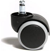 Topstar 6991 Rollenset (Set = 5 Rollen), schwarz, für harte Böden, Stiftgröße 10mm, Durchmesser 50mm