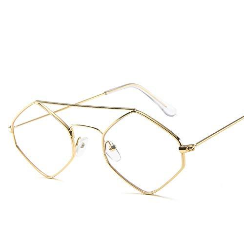 Sonnenbrille Kleine Raute Sonnenbrille Frauen Retro Quadratischen Rahmen Kleine Katze Auge Sonnenbrille Lila Gläser Weiblichen Eyewear Frame Goldene Transparente Spiegel