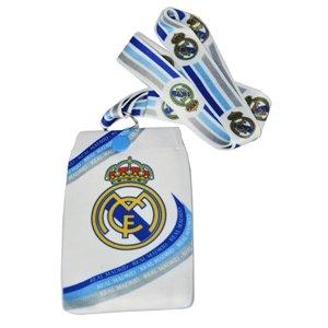 Offizielle Real Madrid FC white phone Tasche mit Trageriemen -