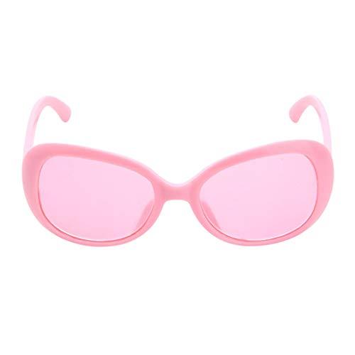 Baoblaze 1 Paar Süße Puppe Kunststoff Sonnenbrille Brille Für 18 Zoll Puppen Zubehör - Pink, A
