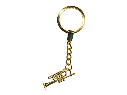 Miniblings Kornett Schlüsselanhänger Box golden Trompete Flügelhorn Trompeter
