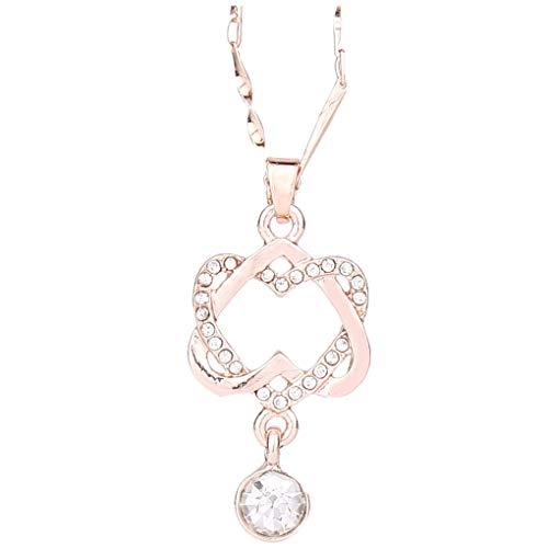 Dorical Damen 925 Sterling Silber 3A Zirkonia Halskette Frauen Halskette Schmuck dchen Geschenk Promo (One Size, O)