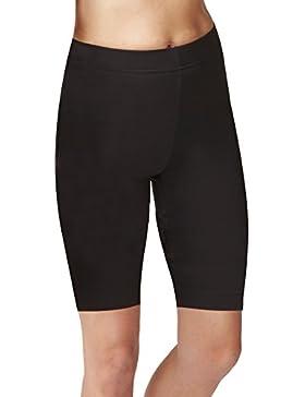 Pantaloni corti da motociclista nero