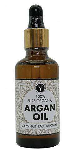 BIO Argan Öl Vegan 50 ml - für Gesicht, Körper und Haare - Antiaging