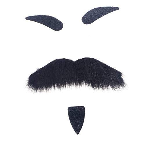 Persönlichkeit Urlaub Neuheit Halloween Kostüme Selbstklebende Gefälschte Augenbrauen Bart Schnurrbart Spitzbart Kit Gesichtshaar Cosplay Requisiten Verkleidung Dekoration Für Maskerade Kostüm Party ()