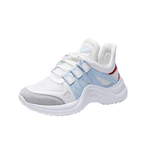 Donna scarpe da ginnastica, corsa sportive fitness sneakers moda traspirante fodera in pelo inverno scarpe stringate scarpe da corsa sneakers nero/rosa/bianco/blu/giallo