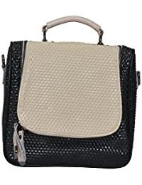 Senora Handbag For Women (Colour-Blackcream)