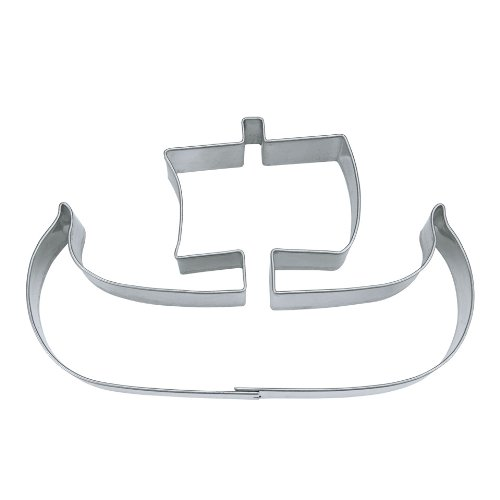 Staedter Viking Boat Shape Cookie Cutter, Silver