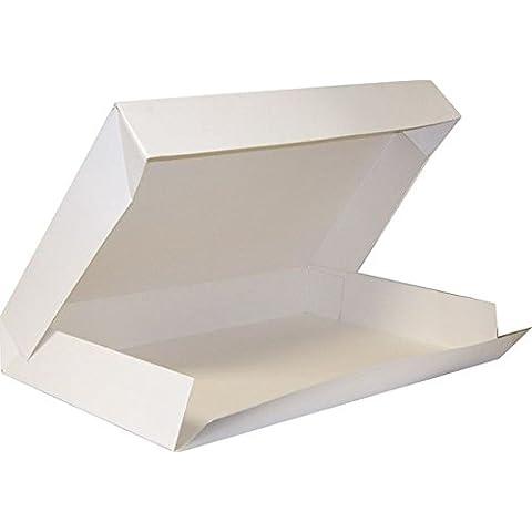 FaisTonGateau - Juego de 25 cajas para tarta (28x42 cm), color blanco