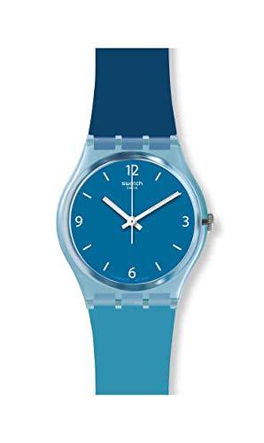 Swatch Unisex Erwachsene Analog Quarz Uhr mit Silikon Armband GS161 - Von Uhren Swatch