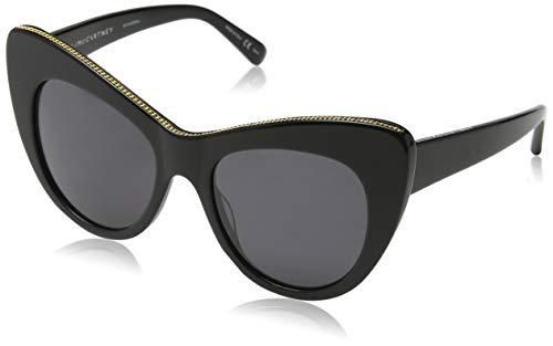 Stella mccartney sc0006s 001 occhiali da sole, nero (001-black/grey), 53 unisex-adulto