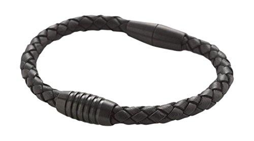 Boccia Unisex-Armband Titan Leder 19 cm - 0347-0317