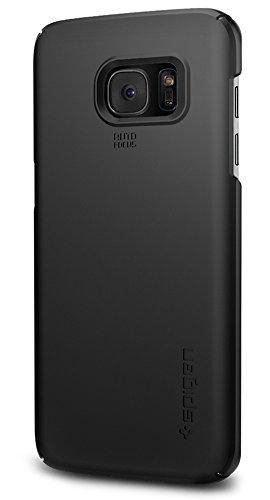 Samsung Galaxy S7 Edge Hülle, Spigen® [Thin Fit] Passgenaues [Schwarz] Premium Hart-PC Schale / Schlanke Handyhülle / Schutzhülle für Samsung Galaxy S7 Edge Case, Samsung Galaxy S7 Edge Cover, Samsung S7 Edge Case, Samsung S7 Edge Cover - Black (556CS20029)