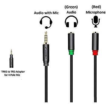 buy riatech audio jack to headphone microphone. Black Bedroom Furniture Sets. Home Design Ideas