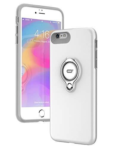 ICONFLANG iPhone 6s Hülle, iPhone 6 Tasche mit Ring Ständer, 360 Grad drehbarer Ring Grip Case, Dual Layer Stoßfest Schlagschutz für iPhone 6/6s, Kompatibel mit Magnetic Car Mount