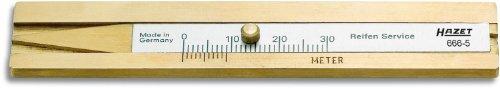HAZET Reifenprofil-Tiefenmesser (zur genauen Bestimmung der Profiltiefe, 30 mm Messtiefe, aus stabilem Hartmessing) 666-5