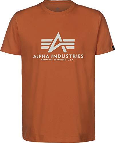 Alpha Industries T-Shirt Basic viele Farben (XXL, Copper) - Farbe Logo-t-shirt
