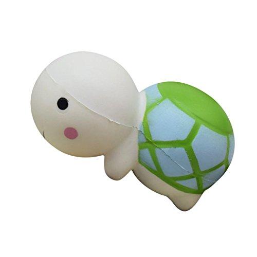 Soft-spielzeug Schildkröte (vneirw niedliche Schildkröte Jumbo Duft Squishies Slow Rising Baby Squeeze Soft Spielzeug Stress Relief Spielzeug, grün)