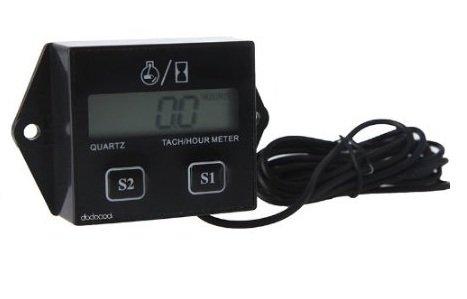 KKmoon LCD Digital Tacómetro/hora Medidor Calibrador Impermeable Bujías Gas Motor Motos ATV